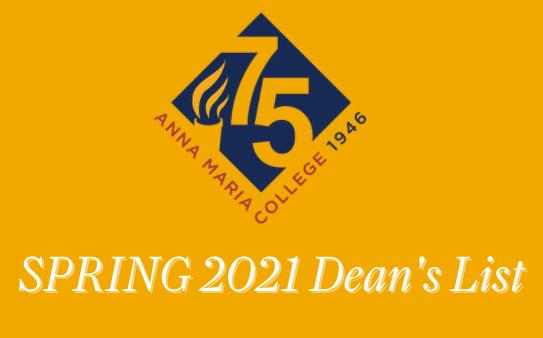 Anna Maria College Spring 2021 Dean's List