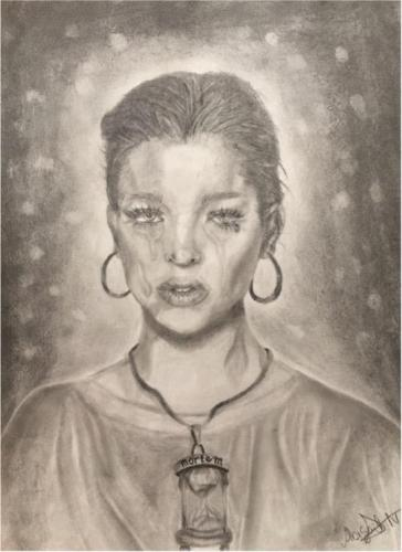 Abigail Nima - Metus Mortis - Graphite Pencils and Charcoal - Information Technology and Software Engineering High School