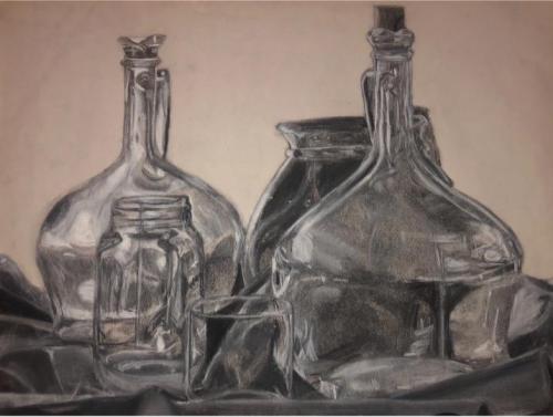 McKendamin Champion - Still Life 1 - Charcoal - Paul VI High School