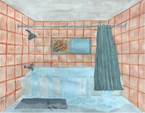 Rosalee Massa - The Overflow - Watercolor - Paul VI High School
