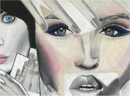 Sophia Lerro - Faces - Charcoal - Paul VI High School